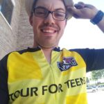 Scott Gagnon at Tour for Teens finish line!